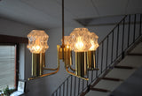 Beautiful swedish brass chandelier