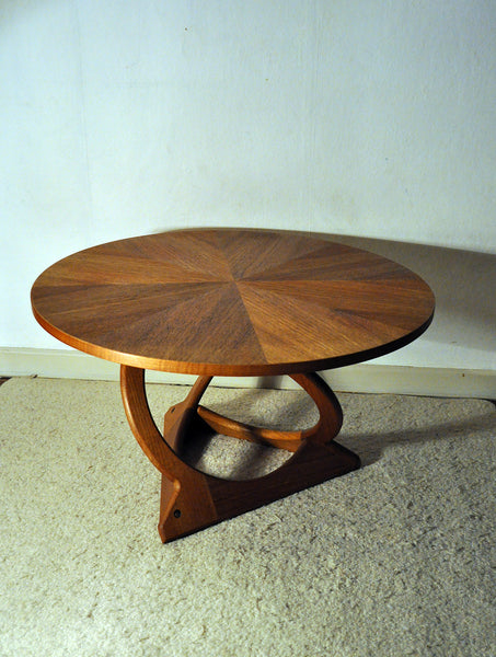 Rare KUBUS Round Teak Coffee Table by Holger Georg Jensen