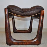 Rare and stunning norwegian easy chair and stool