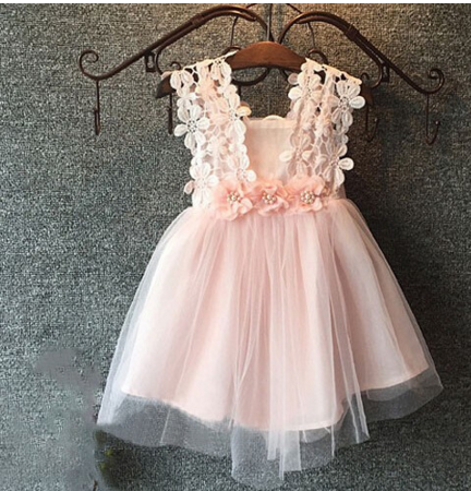 "Pink Tulle and Flower ""MARNI"" Dress"