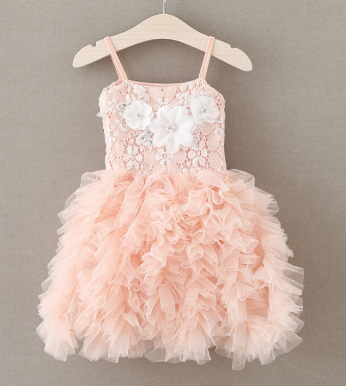 "Pearl and Rhinestone Tulle ""ALIAH"" Dress"