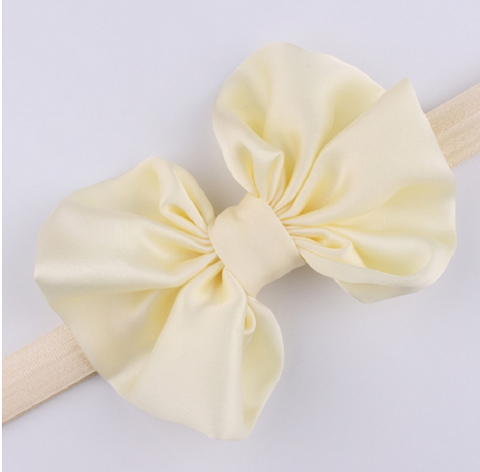 "Cream ""GRACEN"" Bow Headband"