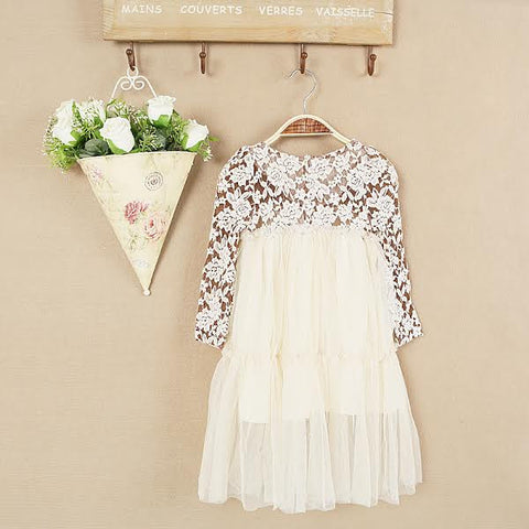 """MEREDITH"" Cream Tulle Dress"