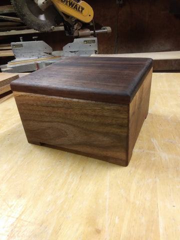 Walnut gift box