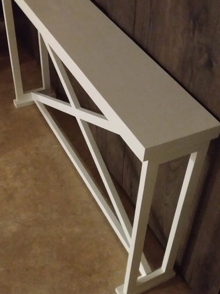 Modern X Console Table