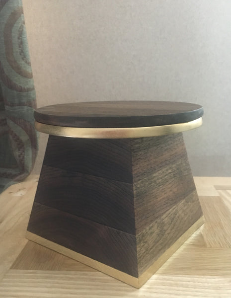 Walnut display stand