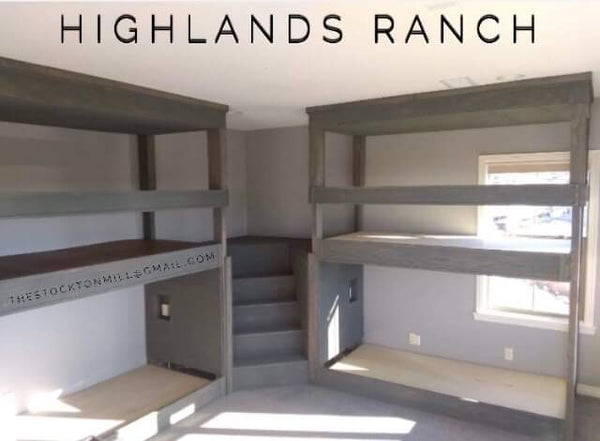 Highlands Ranch L, Adult quad bunk beds