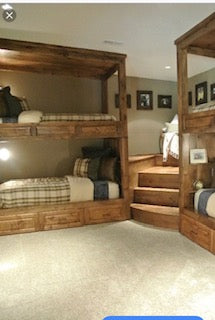 Barbour Quads. Adult quad bunk beds