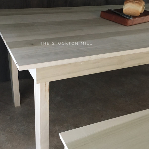 Ruby Collection Hardwood Farm Table and Bench seating