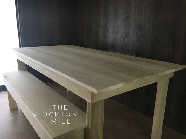 Hardwood Farm Table and Bench seating