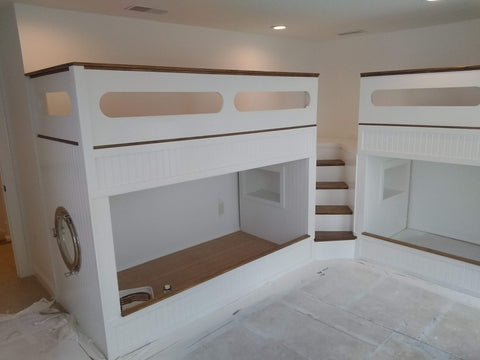 "Special order for Carville, Nautical quad bunk beds, adult ""L"" quad bunk beds"