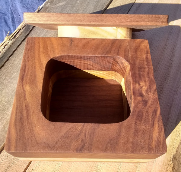 Walnut hand rubbed keepsake/necklace box
