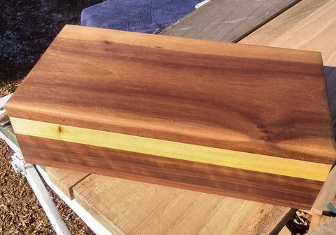 Walnut hand rubbed keepsake box