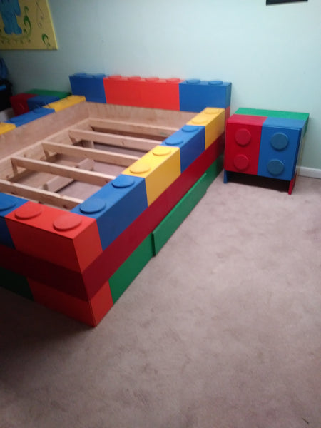 Kids block bed