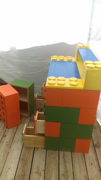 Kids block desk