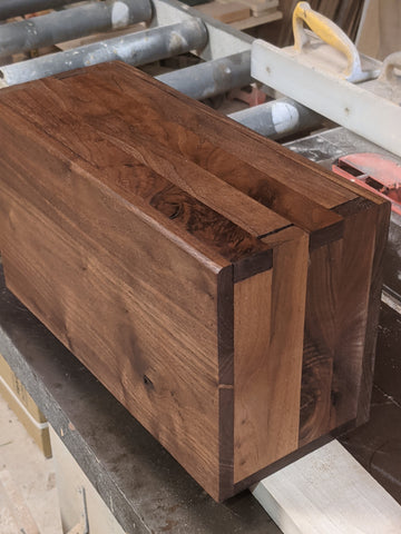 One of a kind Walnut ammo box