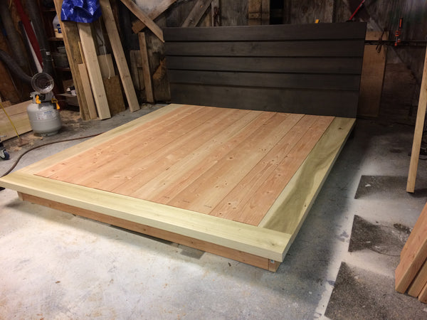 Hardwood Platform Bed, Queen size wood bed Ruby Collection