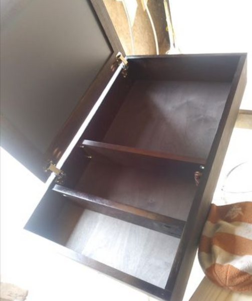 Custom made walnut medicine cabinets