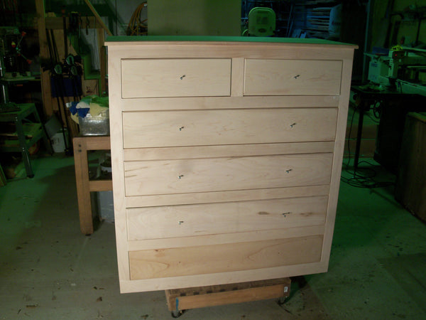All wood stand up Dresser with six drawers