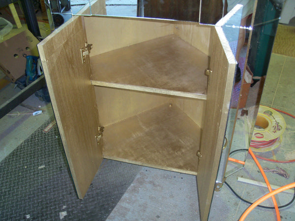 Custom made Mirrored Corner Cabinet
