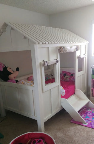 Kids beach house twin bunk beds