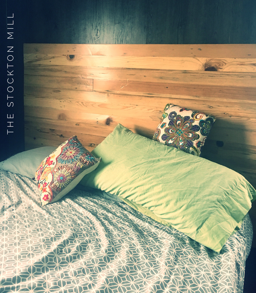 Americana solid repurposed Headboard