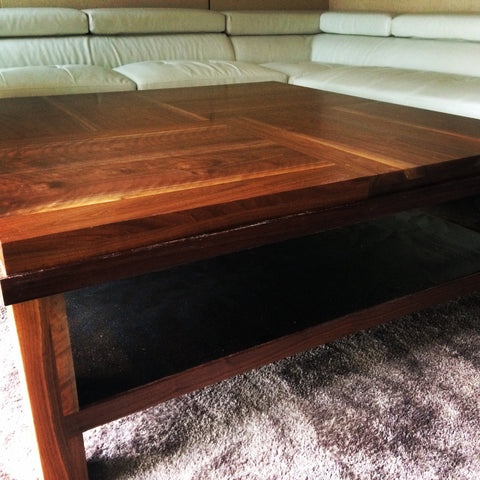 Large Modern Walnut Coffee Table