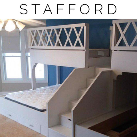 "Scott and Barbra's Stafford ""L"" Adult bunk beds, Special Order"