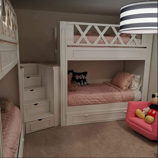 "Karins ""L"" shaped bunk room"