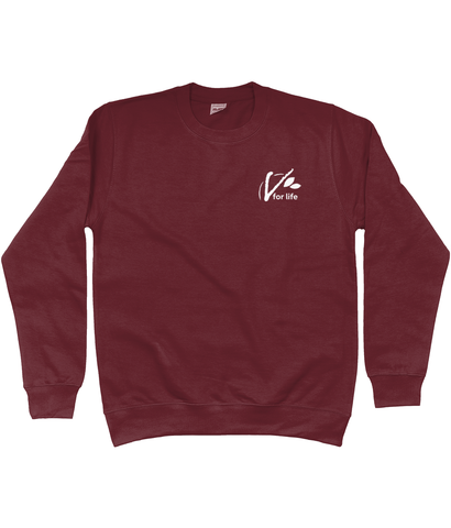 Unisex Sweatshirt - 'V for Life' small, in various colours