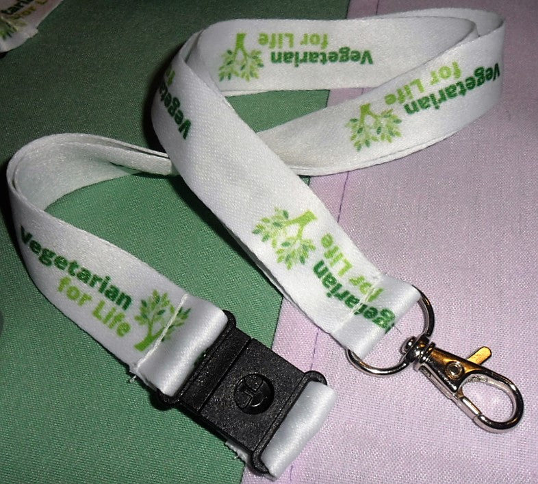 Vegetarian for Life Lanyard