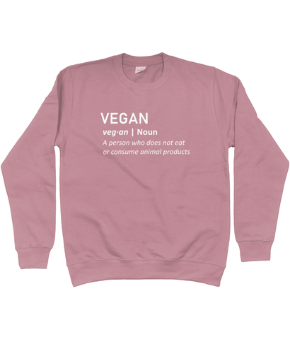 Unisex Sweatshirt - Vegan Definition, in various colours
