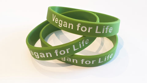 "Silicone Wristband - ""Vegan for Life"""