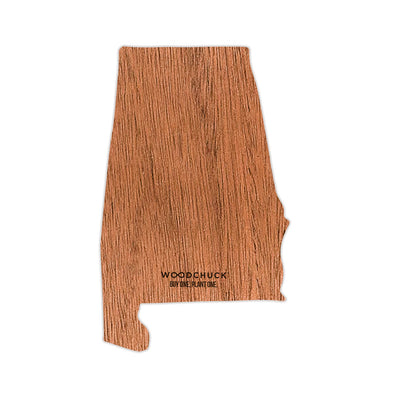 Alabama Wooden Sticker