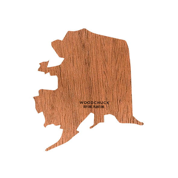 Alaska Wooden Sticker