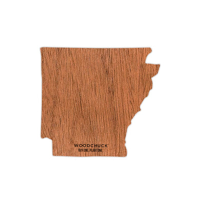 Arkansas Wooden Sticker