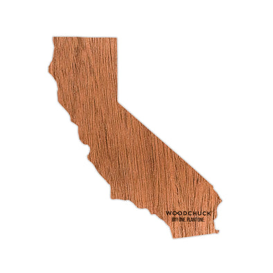 California Wooden Sticker