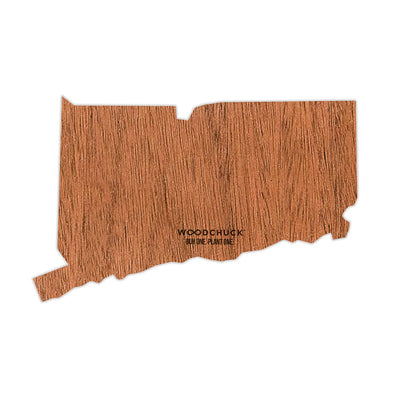 Connecticut Wooden Sticker