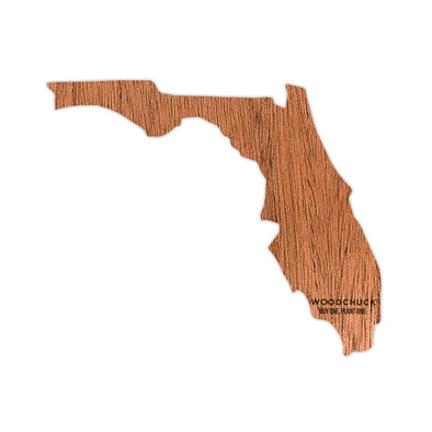 Florida Wooden Sticker