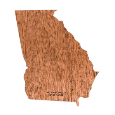 Georgia Wooden Sticker