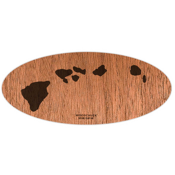 Hawaii Wooden Sticker