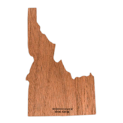 Idaho Wooden Sticker