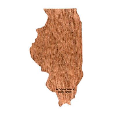 Illinois Wooden Sticker