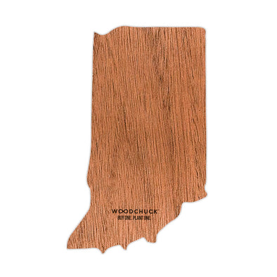 Indiana Wooden Sticker