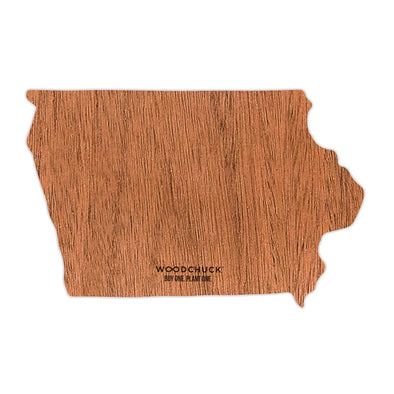 Iowa Wooden Sticker