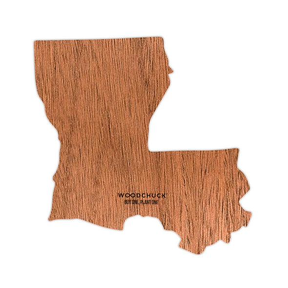 Louisiana Wooden Sticker