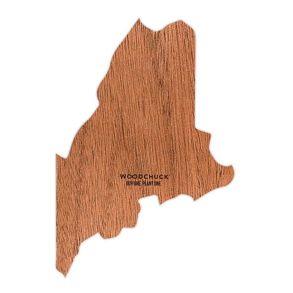 Maine Wooden Sticker