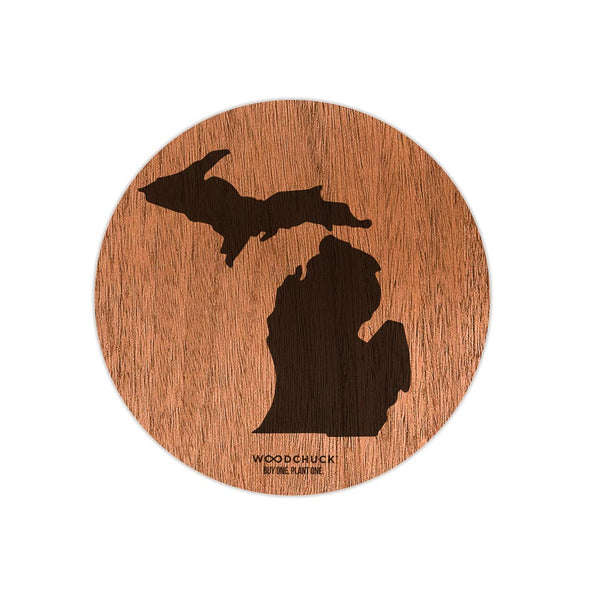 Michigan Wooden Sticker