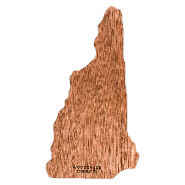 New Hampshire Wooden Sticker