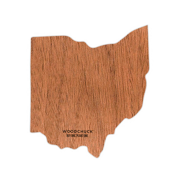 Ohio Wooden Sticker